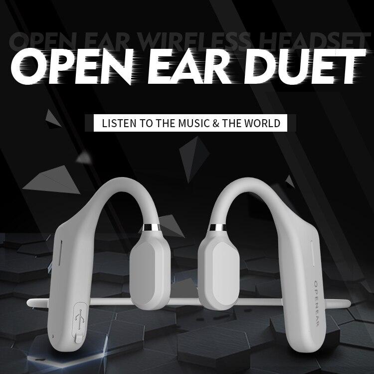 Auriculares Bluetooth de conducción ósea 6D, venta al por mayor, inalámbrico de deporte, banda para el cuello para conducir, auriculares con micrófono