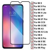 Твердое закаленное стекло 9H для Xiaomi Mi 9 Lite 9T Pro Mi9 SE Защитная пленка для экрана Mi 8 A3 Lite CC9 CC9E Play