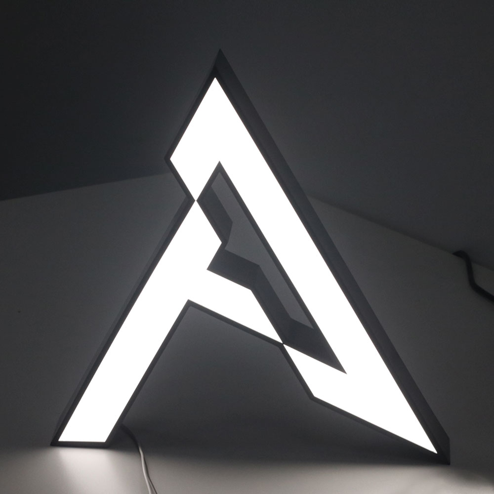 SUS/Stainless Steel Channel Letters Acrylic Front Light Led Signage Glow Up Letter Company Logo Advertising Sign Salon Store Bar