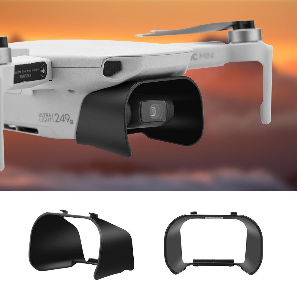 Capa de lente anti-brilho cardan câmera guarda lente capa pára-sol capa protetora para dji mavic mini acessórios