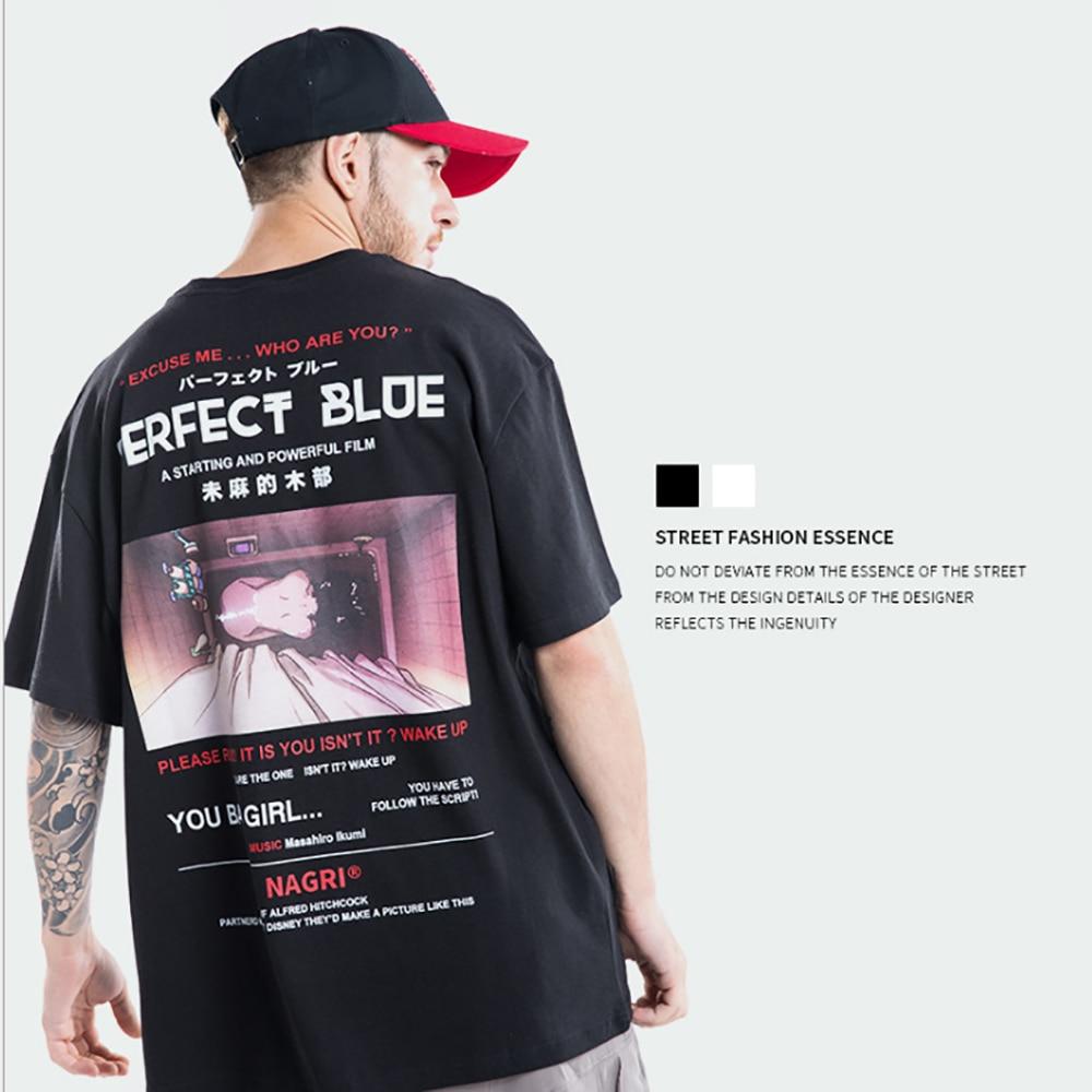 Camiseta Harajuku japonés NAGRI de verano para hombre, ropa informal estilo Hip Hop, camisetas casuales de manga corta, camisetas para parejas