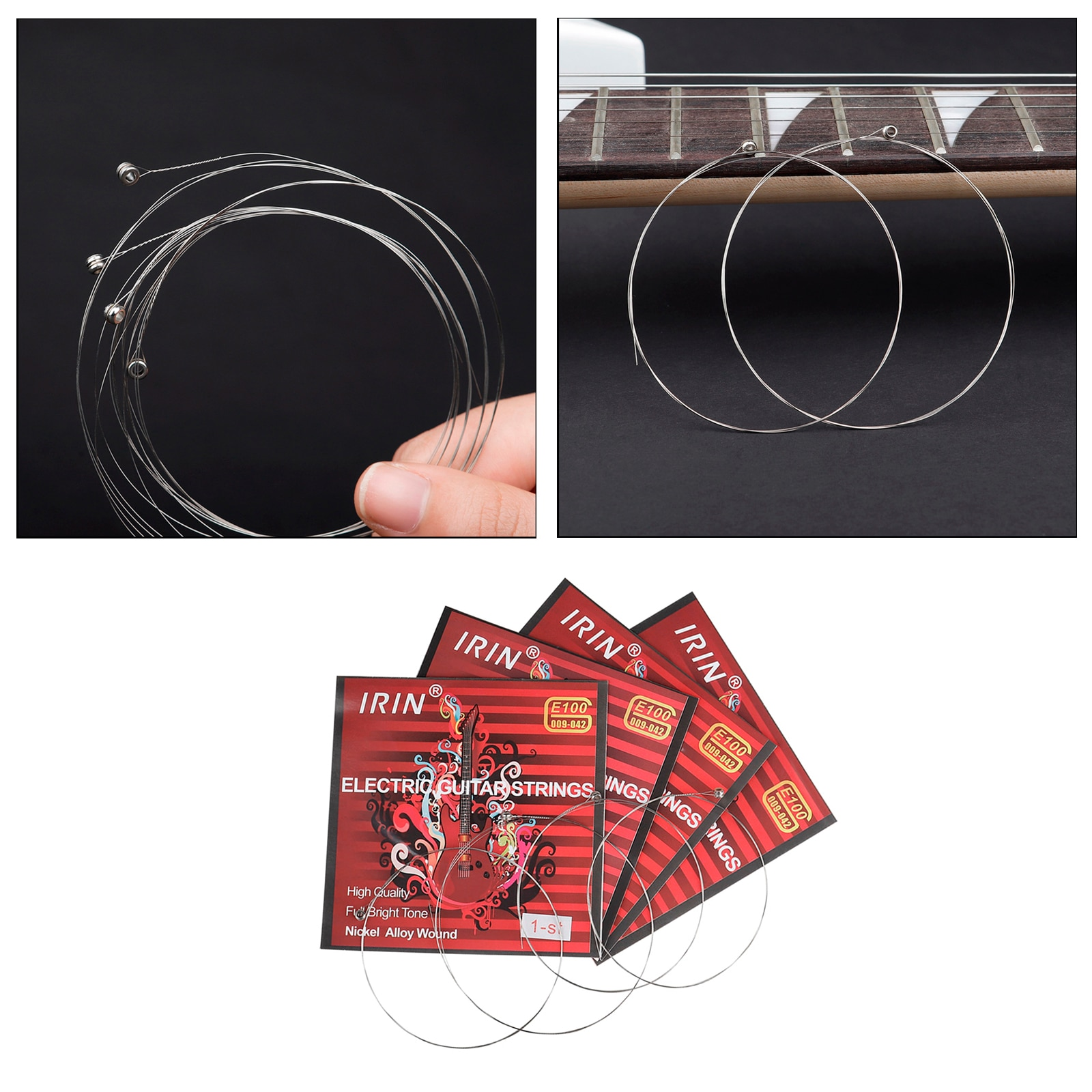 100 Pieces Electric Guitar Stainless Steel Nickel Alloy Wound Strings E-1 DIY Repair Accessories Parts enlarge