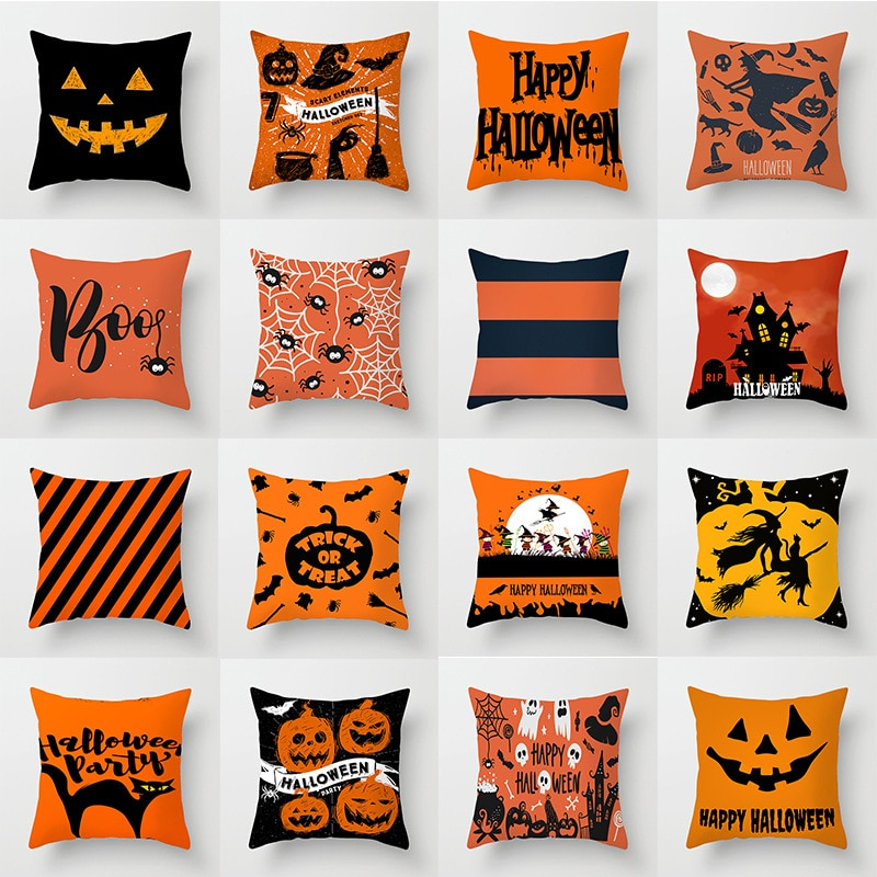 aliexpress.com - 45cm Halloween Blue Purple Black Pillowcase Ghost Party Pumpkin Trick Or Treat Party Happy Halloween Party Decor For Home 2021