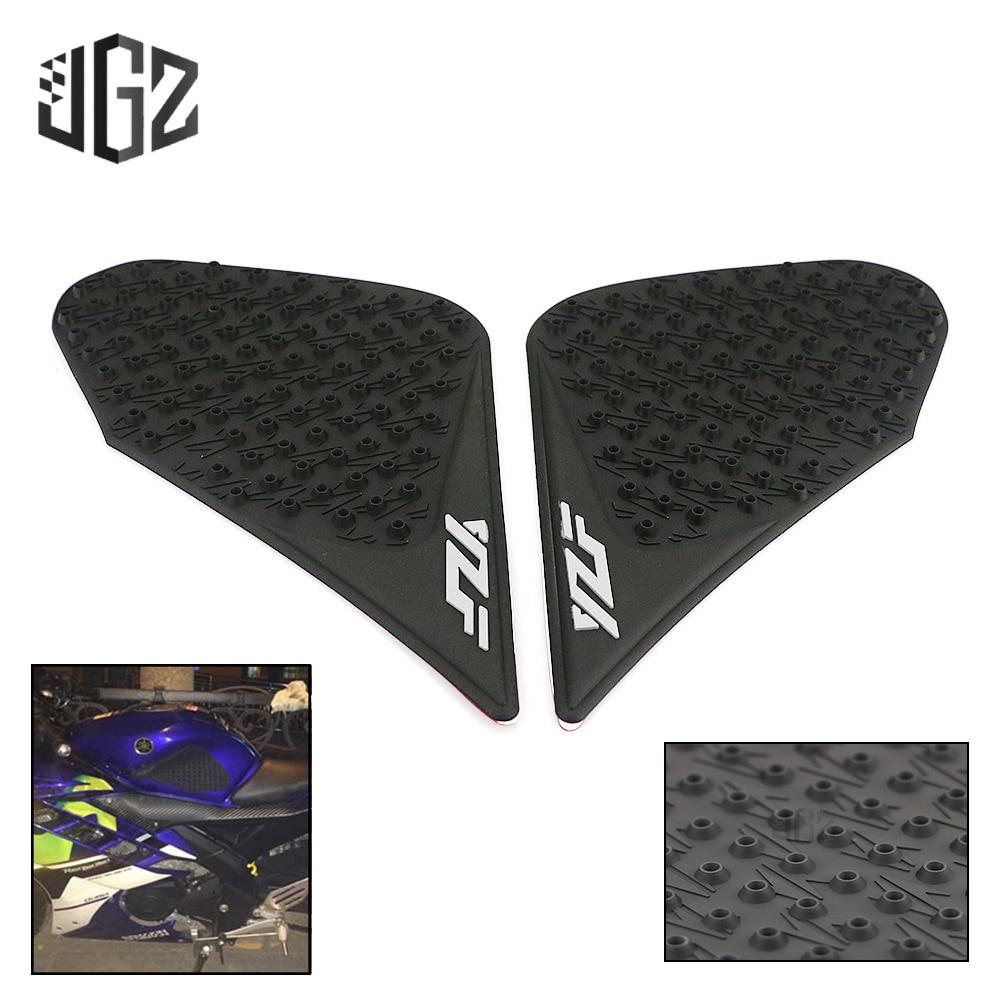 Pegatinas antideslizantes de escombros para motocicleta tanque de combustible y aceite Protector de almohadilla lateral para Yamaha YZF R3 R25 MT03 2013-2016 2017 2018 2019