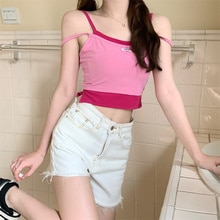 Real Shot Cost-Effective Summer Slim-Fit Design Fake Two Pieces