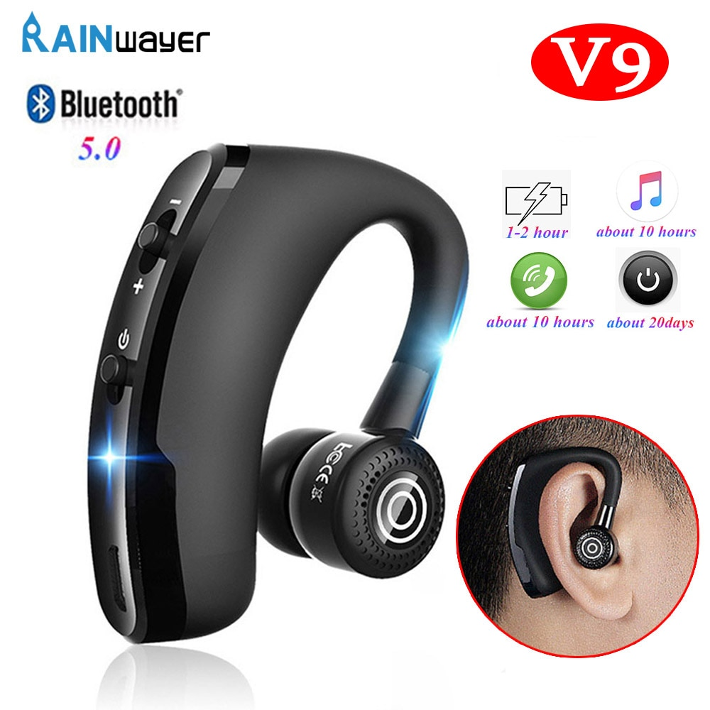 V9 Bluetooth Earphone headphones Handsfree wireless headset With Microphone sport Driver