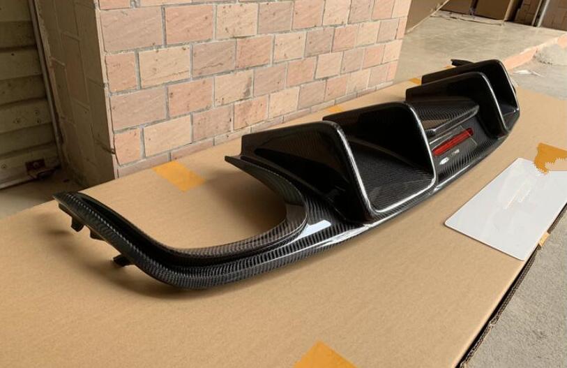 REAL CARBON FIBER REAR BUMPER TRUNK LIP SPOILER DIFFUSER For Audi A7 S7 SLINE 2011 2012 2013 2014 2015