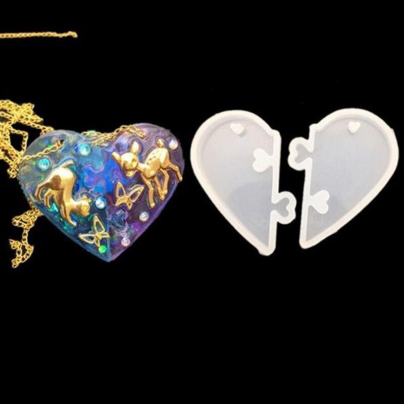 2-шт-сердце-замки-для-любителей-кулон-Жидкая-силиконовая-форма-сделай-сам-форма-для-эпоксидной-смолы-ювелирные-инструменты