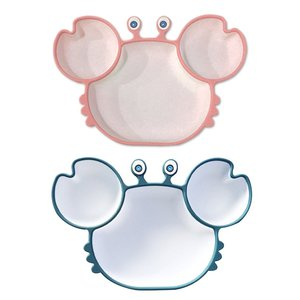 Baby Plate Dishes Silicone Baby Dishes Children's Tableware Plate Non-slip Baby Feeding Bowl With Suction Plate
