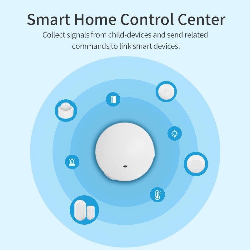زيجبي3.0 الذكية الأمن عدة الذكية محور مستشعر الباب PIR الاستشعار درجة الحرارة والرطوبة الاستشعار زر لاسلكي أتمتة المنزل