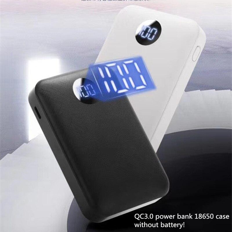 Qc3.0 diy power bank 18650 чехол PD18w батарея быстрое зарядное устройство корпус DIY quick charge 3,0 Мини батарейный блок