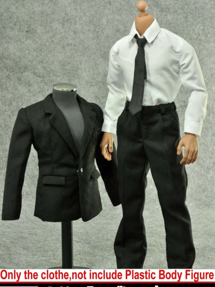 customized so toys so t01 so t03 1 6 scarlett johansson black widow battle suit clothes set for 12 inches ph doll body figure 1/6 Male Clothes Business Suit Gentleman Dress With Shoulder Pads Fit For 12'' Ph Tbl Action Figure Body