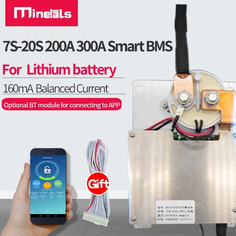13s-20s سمارت bms 16s 14s 48 فولت 24 فولت مدمج بلوتوث 200A 300A 60 فولت بطارية ليثيوم لوح حماية PCBe 48 فولت bms