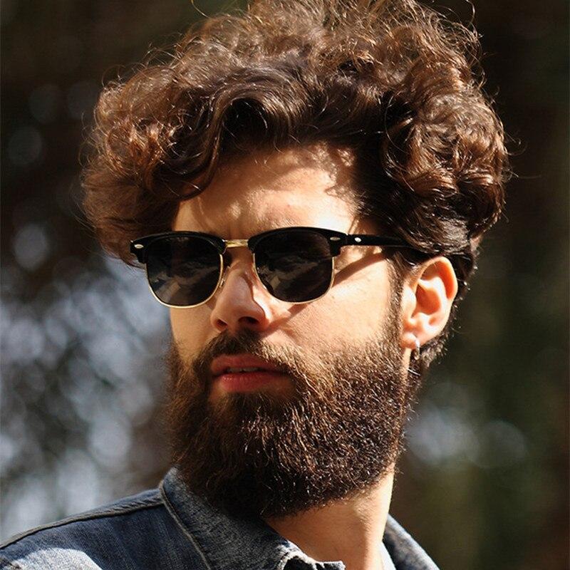 Classic Half Metal Polarized Sunglasses Men Women Brand Designer Glasses Mirror Sun Glasses Fashion