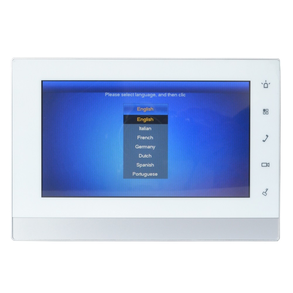 DH logo Multi-Language 2-wire VTH5222CH-S1 Indoor Monitor,work with VTNS1006A-2,IP doorbell, Video Intercom,wired doorbell enlarge
