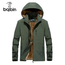 2021 Winter Jacket Men Brand Military Thicken Warm Jackets Wool Liner Windbreaker Hooded Collar Jaqu