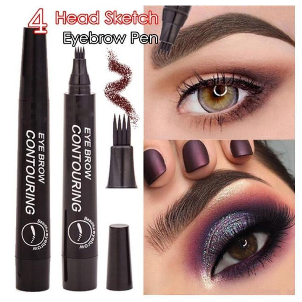 Lápiz de cejas Microblading tinte de 4 puntas líquido lápiz de tatuaje de cejas 5 colores pintura maquillaje cejas impermeable cosmético delineador para cejas
