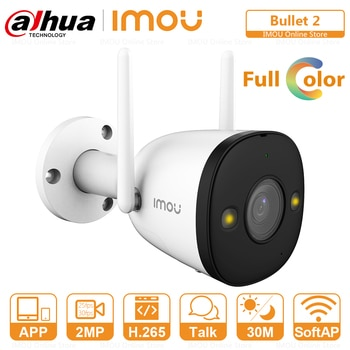 IMOU Outdoor Dual Antenna Full Color Wifi IP Camera Two-Way Audio Active Deterrence IP67 Weatherproof Built-in Hotspot Bullet 2