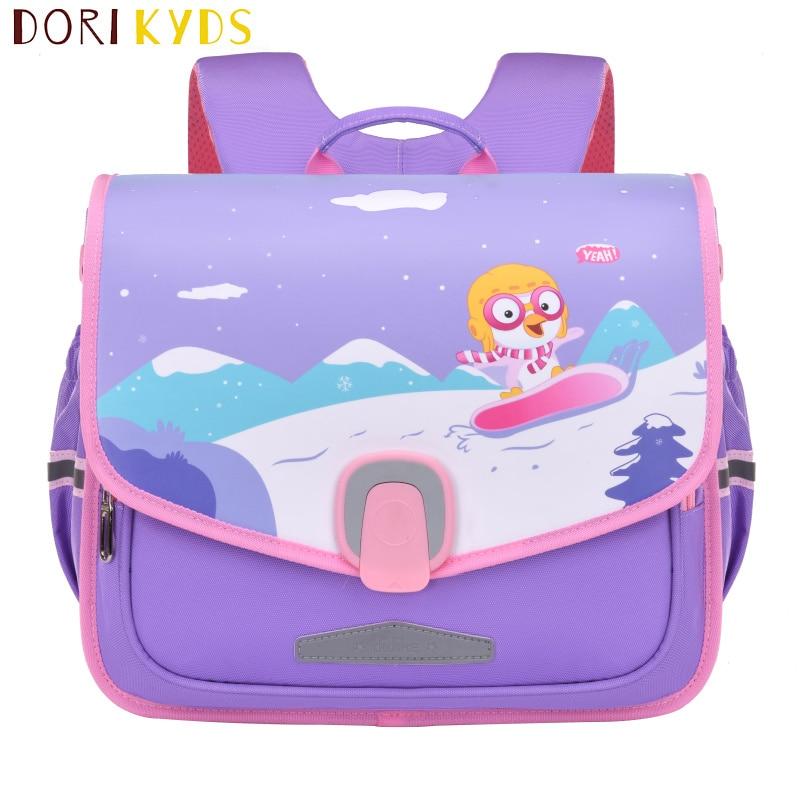 DORIKYDS Fashion Lock Kids Backpack Cute Cartoon Children Schoolbag Boys Girls Textbook Bag Primary Sac A Dos Enfant Mochila