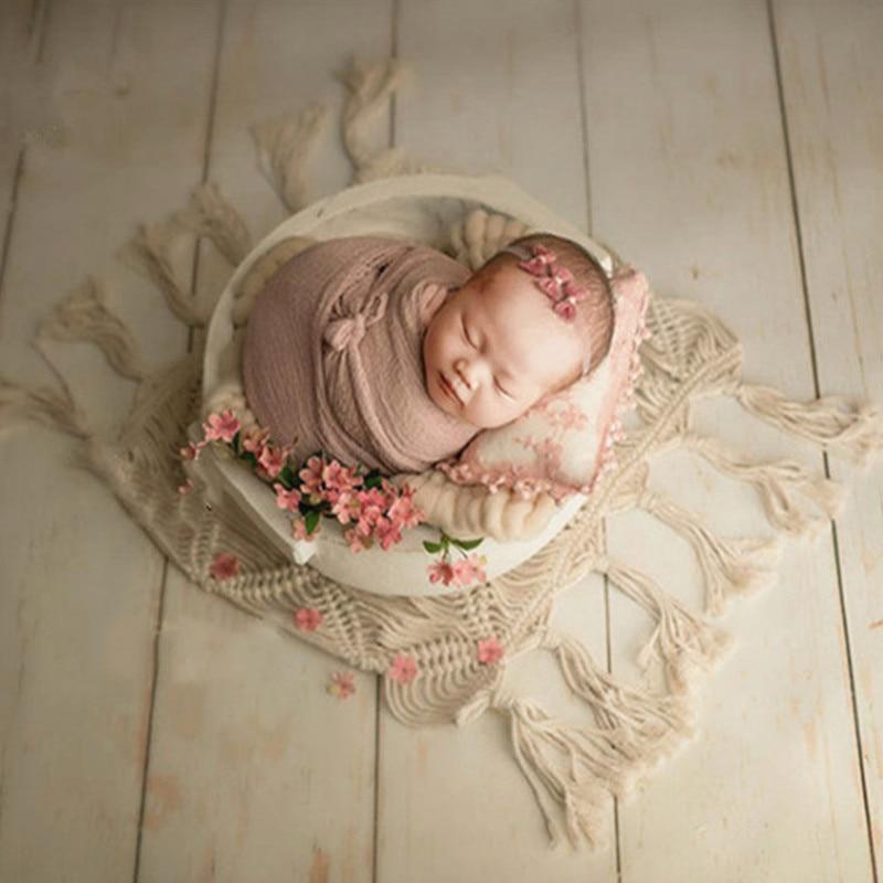 Photography Baby Props Baby Shoot Studio Accessori Handle Round Tub Photo Props Baby Newborn Photography Prop Newborn Accessori enlarge