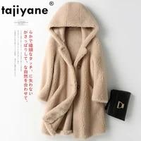 coat fur real autumn winter coat women clothes 2021 wool jacket korean vintage sheep shearling suede lining manteau femme zt3883
