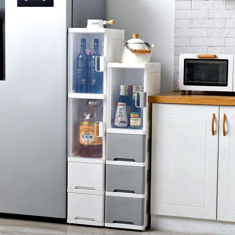 24cm multi camada acabamento armário de cabeceira tipo de assoalho do toalete gaveta de plástico de fenda ultra estreita organizador tipo armário de armazenamento