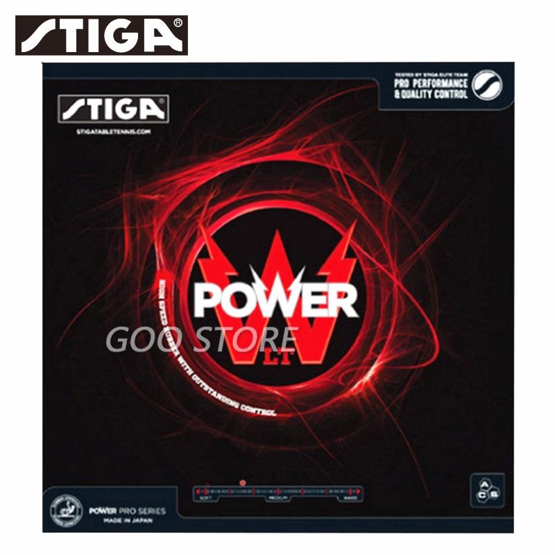 Резиновые накладки для настольного тенниса STIGA Power LT, скоростные + спиннинговые накладки, губка для пинг-понга STIGA
