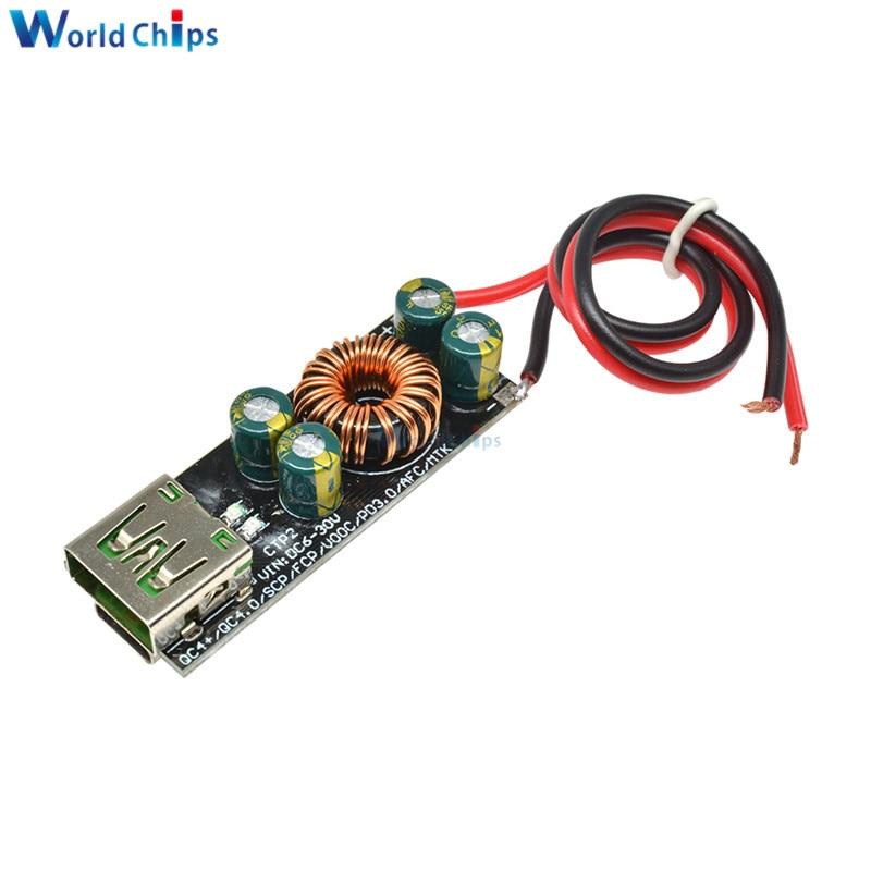 QC4.0 QC3.0 6 -35V módulo reductor Buck Boost para teléfono móvil, USB tipo-c, adaptador de carga rápida para Huawei SCP/FCP Apple PD Qualcomm