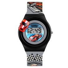 SKMEI Cartoon Car Children Watch Kids Casual Fashion Digital Electronic Watch Creative Cartoon Stude