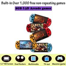 Música recargable vídeo portátil consola de juegos portátil HD doble balancín más de 1000 X7 Plus MP5 Cámara 8G películas LCD niños Video