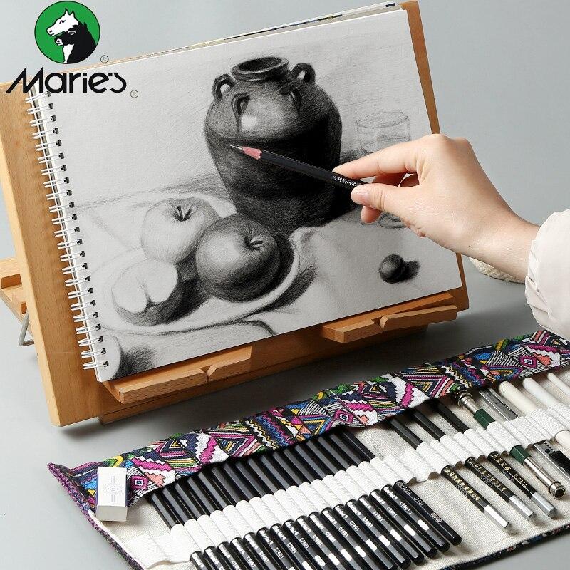 uni 9800 set drawing pencil drawing sketch pencil art wood pencil Mary's Sketch Pencil Set Sketch Pen Drawing Pencil Set Beginner Student Professional Full Sketch Sketch Sketch Pen Art Supplies