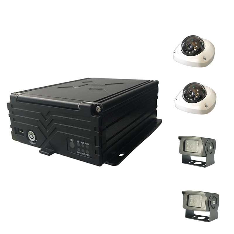4CH 1080P car security camera kit car black box for sightseeing car & bus and long time recording su