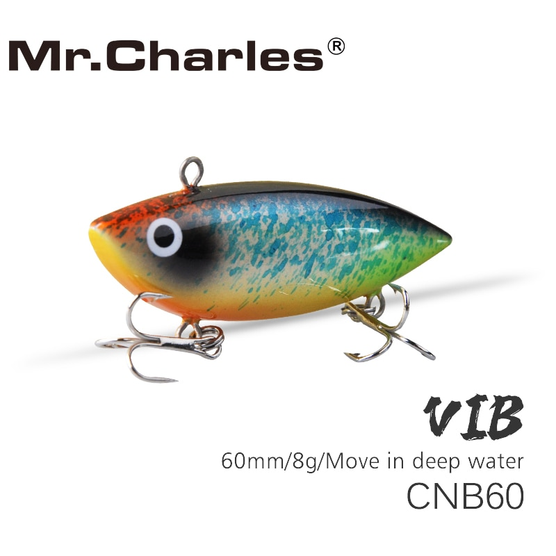 Mr.Charles CNB60 fishing lure 60mm/8g high quality VIB hard bait Move in the surface Fishing Tackle