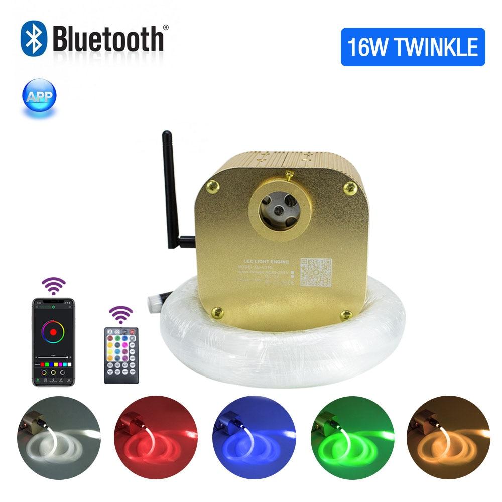 16W Twinkle Faser Optic Sternen Decke beleuchtung kits Bluetooth APP Smart Musik Steuerung für Auto dach sterne kinderzimmer decke Licht