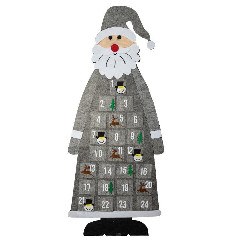Christmas Felt Advent Calendar Wall Hanging Santa Advent Calendar with Pockets 24 Days Kids Toys For Children Christmas Gift fennell clare santa s 12 days of christmas