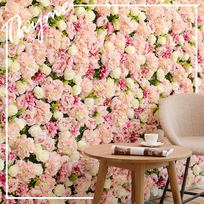 Artificial Rose Wall Hydrangea Peony Background Wall Home Shooting Party Activities Wedding Decoration Fake Background Wall