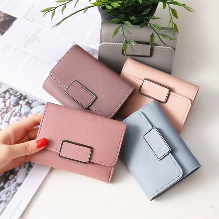 Carteira feminina pequena couro, bolsa carteira feminina pequena feita em couro com compartimento para cartões