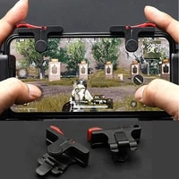 2pcs pubg moible phone controller gamepad free fire l1 r1 trigger game pad grip joystick for iphone android accessories with box