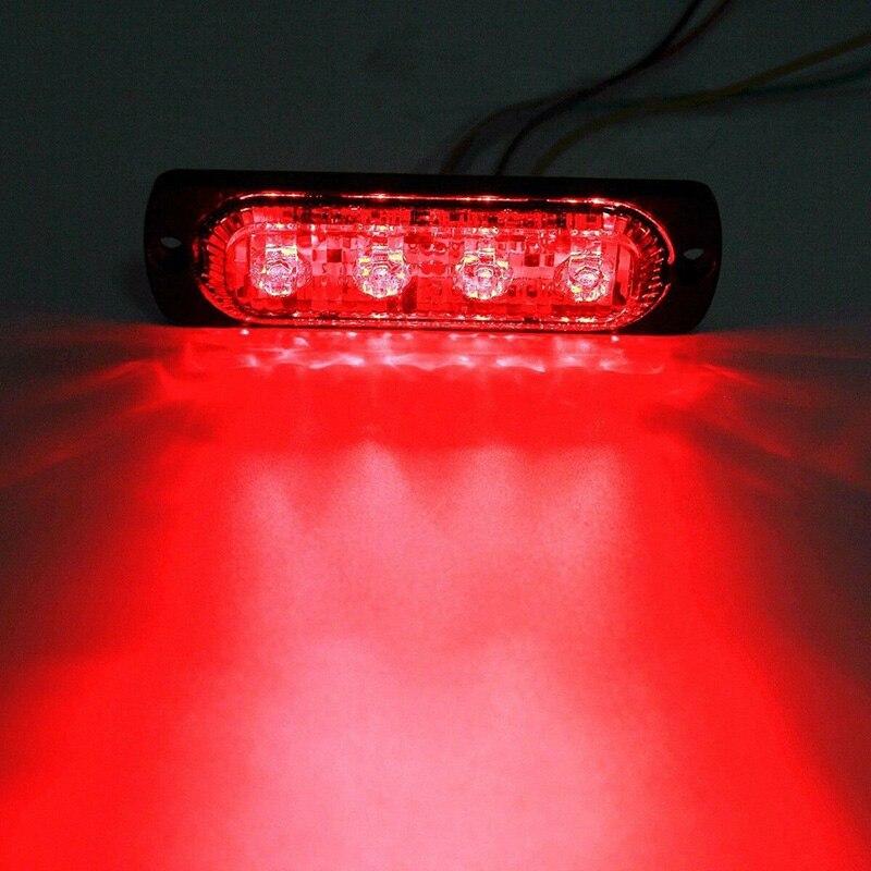 Фонарь, срочная работа, 36 Вт, 4 светодиода, набор аксессуаров, Красные линзы