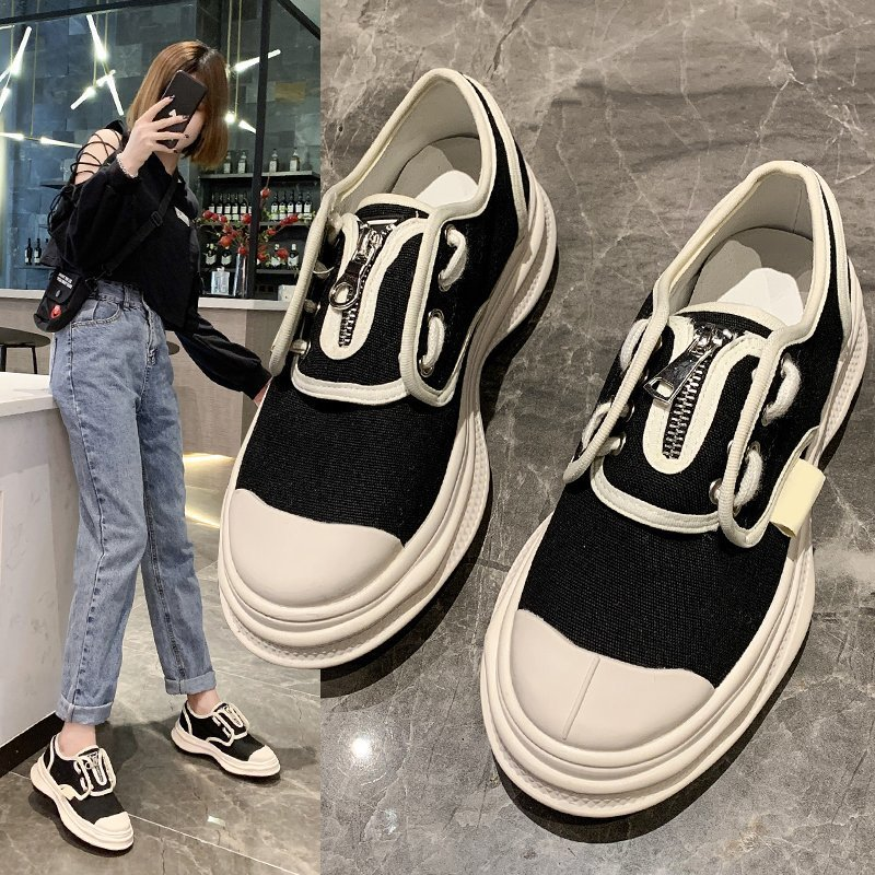 2021 Summer New Women's Shoes Platform Woman Casual Female Sneakers Autumn Flats Round Toe Clogs Fall Retro New Dress