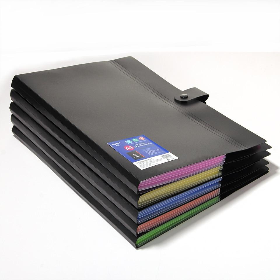 A4 10 color impermeable Carpeta de archivo de PP bolsa de documentos bolsa bill organizador de carpetas clip carpeta de documentos de varios colores