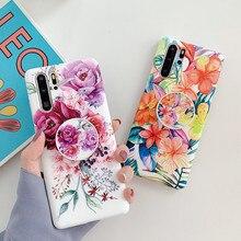 FLYKYLIN étui avec support pour Samsung Note 10 Plus couverture arrière sur S8 S9 S10 Plus S10E Note 8 9 S10 5G coque en Silicone fleur rétro
