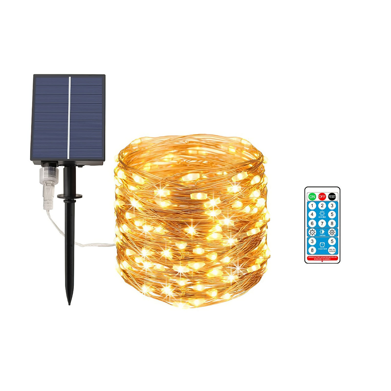 Solar String Light Wire Light LED Rope Light IP 67 Waterproof High Quality Easy To Use Decorative String Lamp For Courtyard