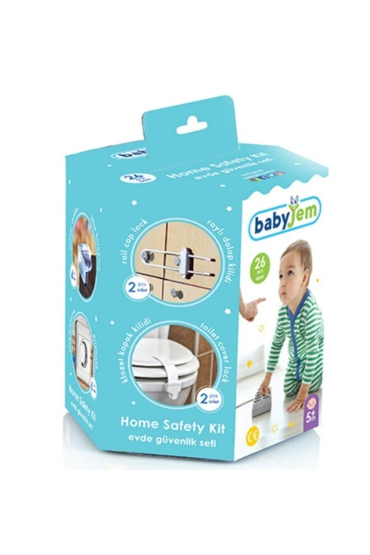 26 Piece Baby Home Safety Security Set Corner Table 3M Tape Protection Child Safety Drawer Latch Cabinet Door Furniture Items