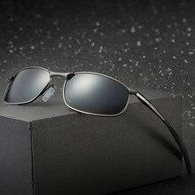Lunettes de soleil polarisantes de marque   Monture métallique carrée lunettes de soleil classiques pour hommes, lunettes de soleil pour la conduite dans les hommes, UV400 nuances gafas de sol hombre