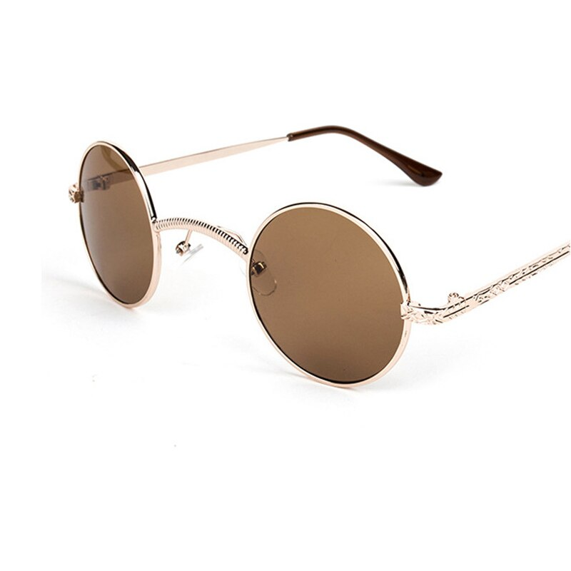 Vintage Punk Sunglasses Women/Men Brand Designer Alloy Frame Points Retro Reflective Mirror Oculos De Sol 3503