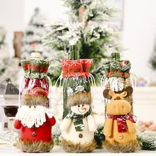 Christmas Santa Claus Snowman Wine Bottle Cover Xmas Champagne Packaging Bag Party Home Table Decora