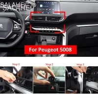 car air vent mount mobile phone holder bracket for peugeot 5008 air vent clip mount cradle gps stand auto interior accessories