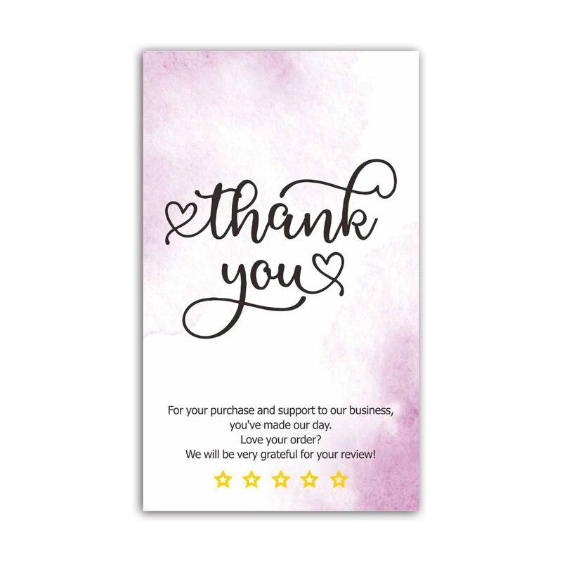 30 шт. благодарим вас за ваш заказ карты Бизнес карты покупок покупки поздравительные открытки для вечерние пригласительный билет Подарочна...