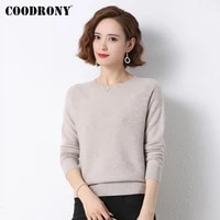 coodrony brand elegant casual autumn winter womens soft clothing streetwear fashion knitted female o neck sweaters w1416
